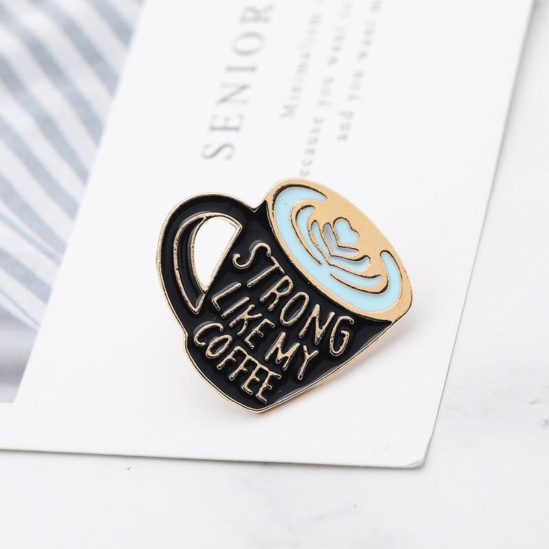 PIN9 black lapel pin Coffee Brooch Best friend gift for her Coffee Soulmate Enamel Pin Enamel Pin on SALE Coffee lover pin
