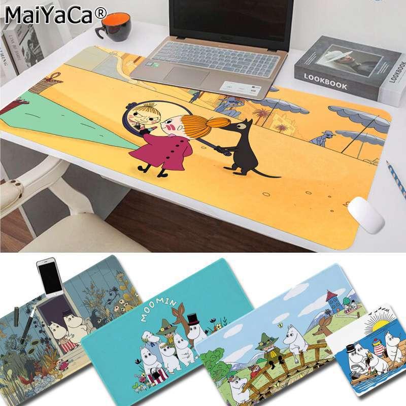 MaiYaCa Cute Hippo Moomin Pikku Myy Keyboards Mat Rubber Gaming Mousepad Desk Mat Free Shipping Large Mouse Pad Keyboards Mat