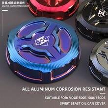 Spirit Beast tylny hamulec w motocyklu korek oleju zmodyfikowany CNC aluminium puchar oleju pokrywa ochronna akcesoria do VOGE 500R 500DS 650DS