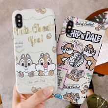 Cute squirrel pattern case For iPhone X XS XR  XsMAX 6 6s 7 8 8plus Fashion trend style soft tpu cover