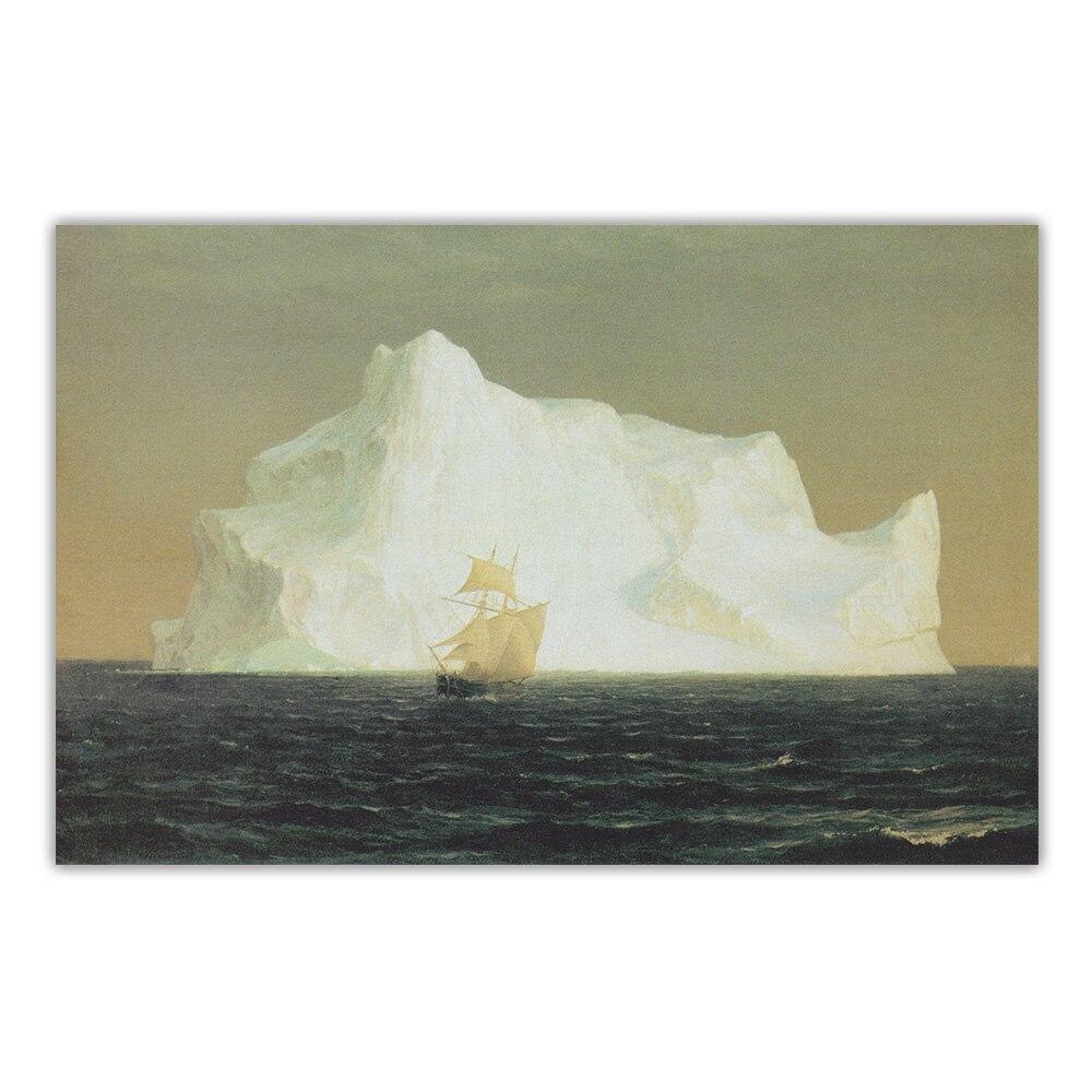 Цитон Фредерик Эдвин церковь iceberg айсберг 1891 canvas холст