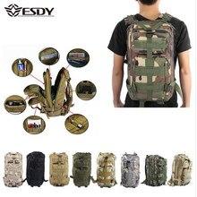 Mochila tática militar de 30l, bolsa esportiva camuflada para viagens, caminhadas, camping, caça, trilha e atividades ao ar livre