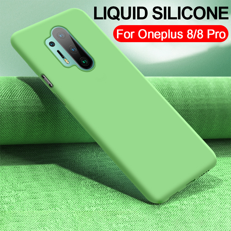 For ONEPLUS 8 Pro Liquid silicone Cover for Oneplus 8 7 7T Pro Case Fashion Ultra Thin Full Protection Shockproof Back Cover|Fitted Cases| | - AliExpress