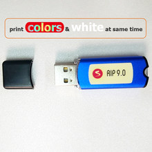 AcroRIP – imprimante UV à jet d'encre, logiciel d'imprimante à plat, blanc, ver 9.0 RIP, avec clé de verrouillage, dongle pour tête d'impression Epson
