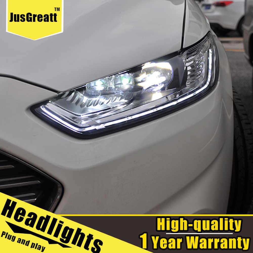 Een Paar Voor Ford Mondeo Led Koplampen 2013-2016 Mondeo Hid Hoofd Lampen Bi Xenon Beam Fog Dagrijverlichting verlichting Dynamisch Turn