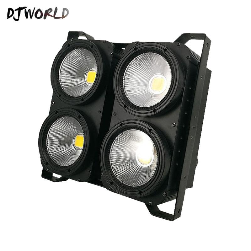Blinder DMX 4 yeux 400W LED COB Blinder blanc froid + blanc chaud LED public 2 canaux pour spectacle concert événement