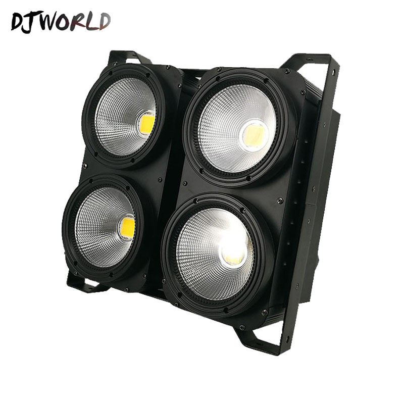 Blinder DMX 4eyes 400W LED COB Blinder Cool White + Warm White Led Audience 2 Channels For Show Concert Event