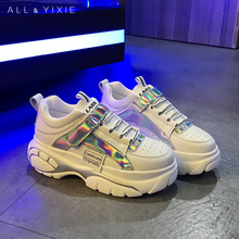 ALL YIXIE Sneakers Women 2019 Fashion Autumn Chunky White Womens Platform Shoes Zapatos De Mujer