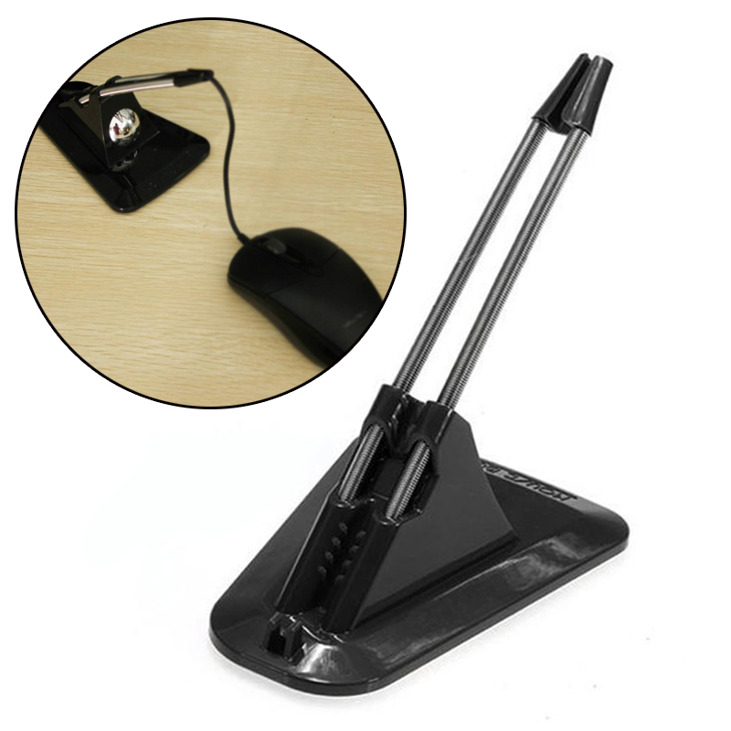 Holder Cable-Clip Mouse-Organizer Bungee Black Portable Fixer