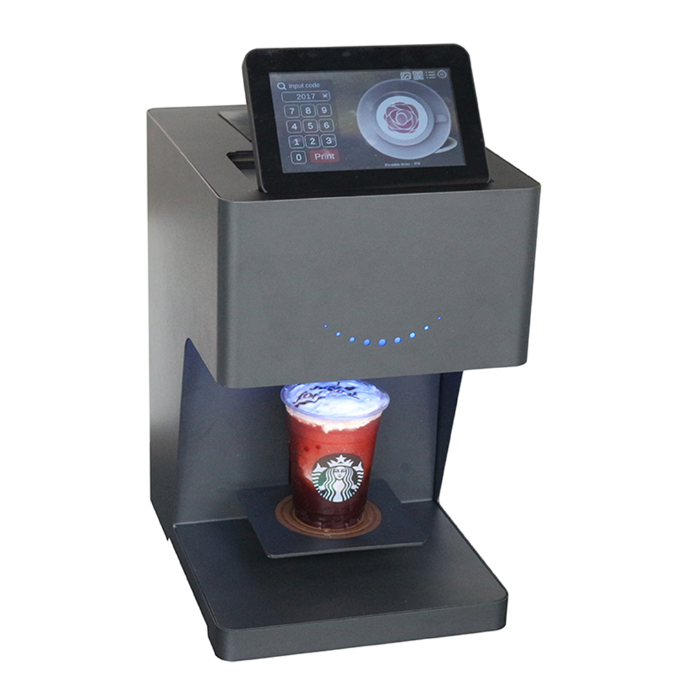 Full Smart Latte Coffee Art Printer 3d Coffee Printer Printing Machine Edible Food Printer With Touch Screen