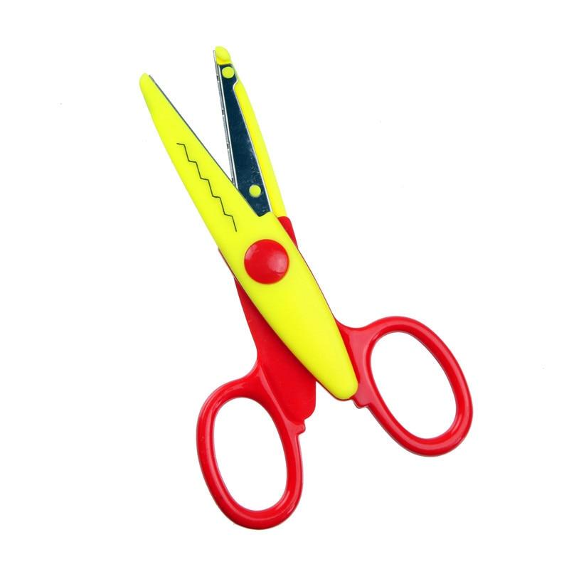1 шт., цветные металлические и пластиковые ножницы для скрапбукинга