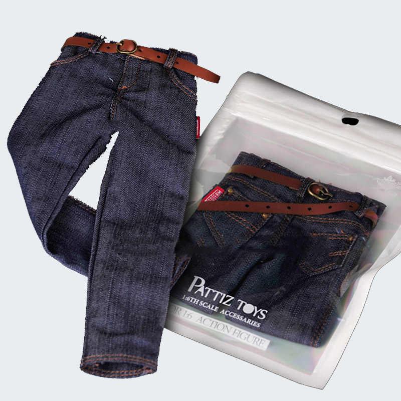 """1/6 Schaal Mannen Slim Fit Trendy Hip Hop Jeans Jongen Blauwe Broek Geschikt Ht Body Dam Ss Vts Voor 12 """"Body Pop Kleding Accessoires"""