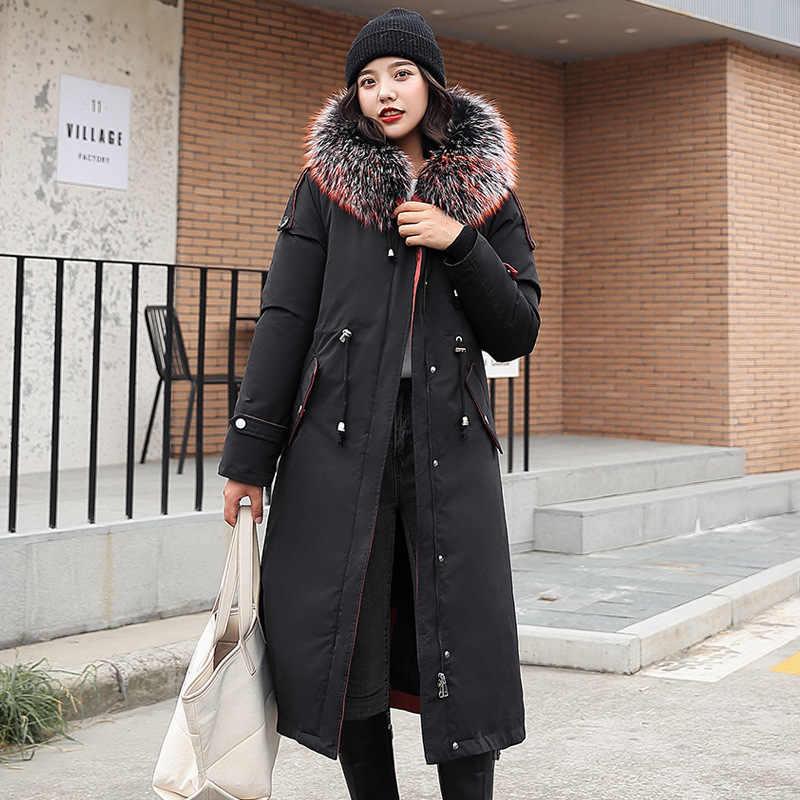 2019 yeni varış pamuk yastıklı ceket aşağı ince uzun kış ceket kadınlar için kalınlaşmak bayanlar ceket sıcak kadınlar Parkas artı kadife