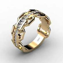 Alloy Diamond Rings Europe and The United States Popular Men and Women Business Celebration Jewelry Fashion Ring Gift(China)