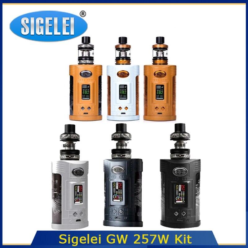 Original Sigelei GW  Kit 257W Single Coil Powered By 21700/20700/18650 With F Tank  Electronic Cigarrete Vape Kit For Vape Tank