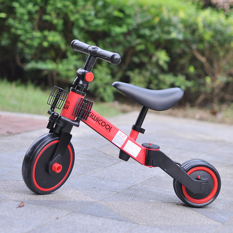 3 in 1 Kids Tricycle + Balance bike + Baby walker Child Push Bike Toddler Learn to Ride Bicycle Ride On Toy Boy Girl Xmas Gift 4