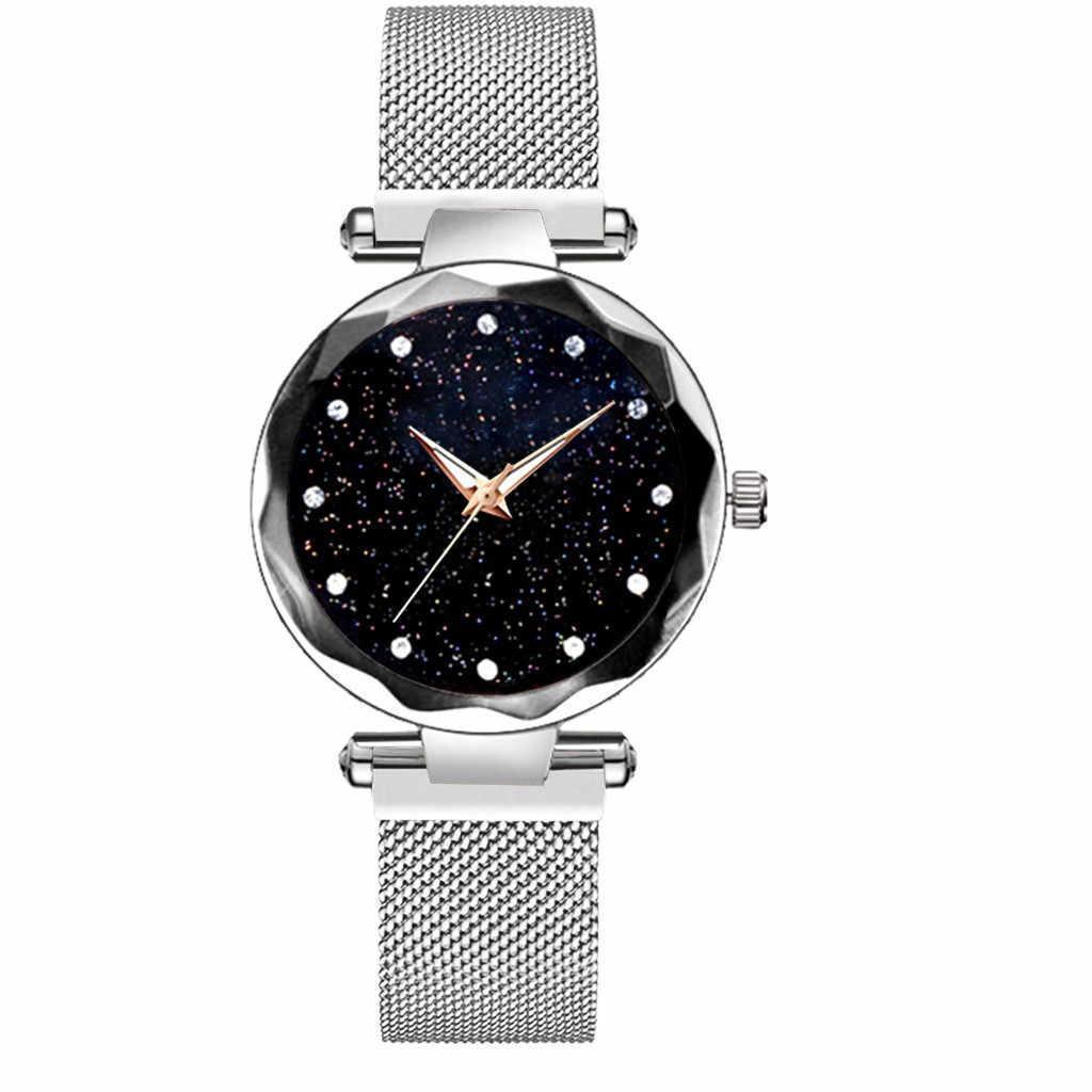 Relógio de pulso de quartzo relojio mujer sta-rry sky banda magnética 2019 relógio de pulso relógios de diamante feminino presente relogio feminino
