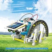 13 в 1 образовательных DIY Солнечной комплект игрушки роботы солнечных лучей солнцезащитный крем питание батарея энергии для детей детей подарки автомобиль гаджет