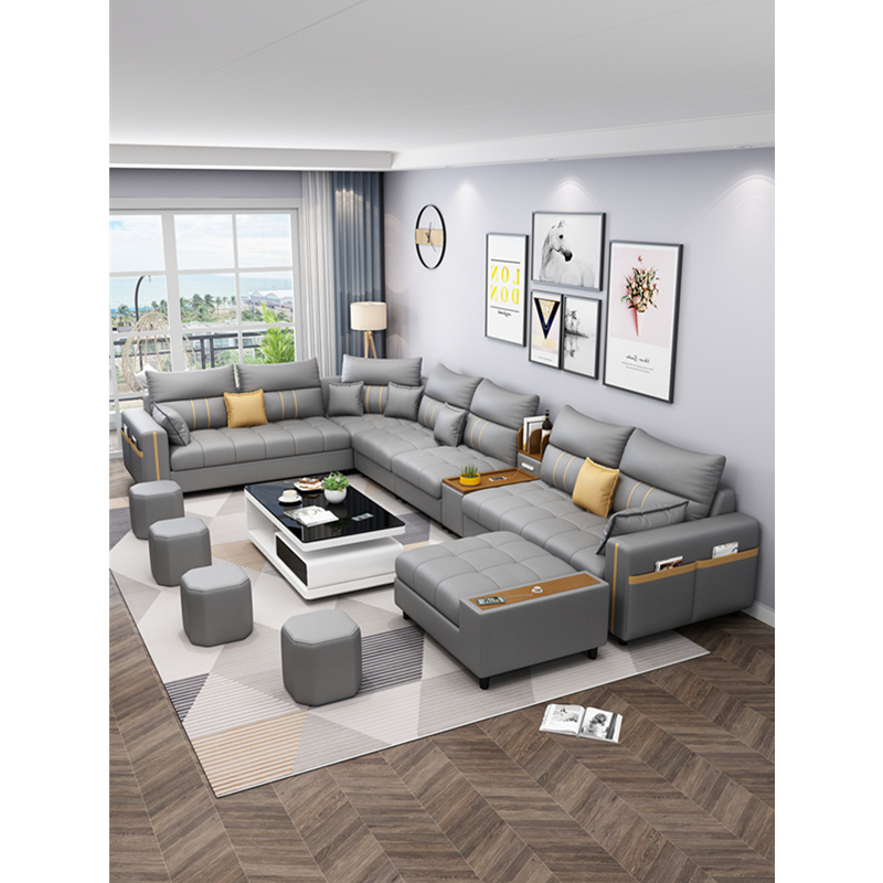 modern design corner customized fabric living room sofas 4