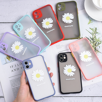 Transparent Shockproof Flower Silicone Phone case For iPhone 11 Pro X XS Max XR for iPhone 8 7 6 6S Plus SE cases Matte Cover image