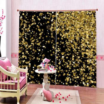 Custom Curtain Decoration 3D Brief Small geometric figures Curtains For Bedroom Living room Polyester Room Curtain