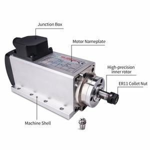 Image 2 - 1.5kw אוויר מקורר ציר מנוע 110V/220V כיכר אוויר קירור ציר כרסום ציר עבור CNC חריטה עץ נתב