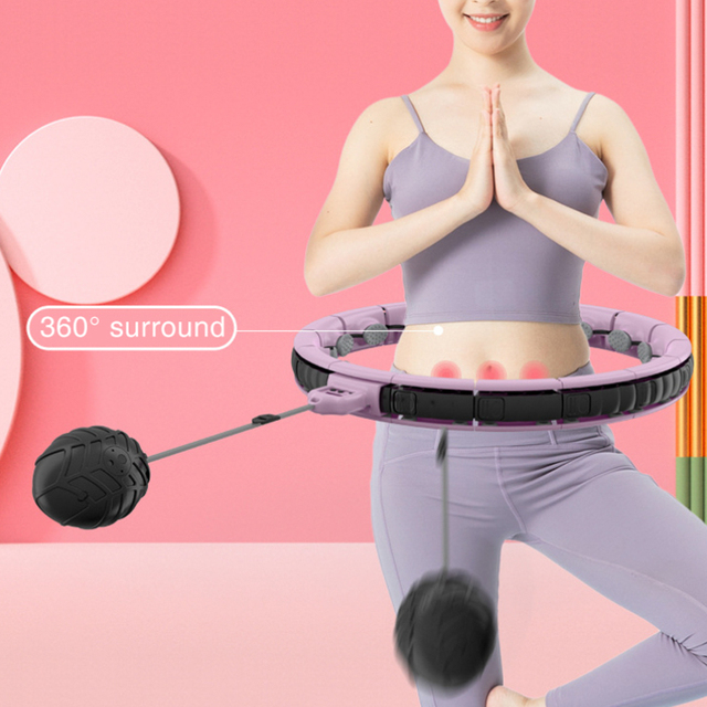 Detachable Smart Hola Hoop with Counter Fitness Easy Hoop Weighted Slimming Waist Trainer Massage Hoops Sport Exercise Equipment 5