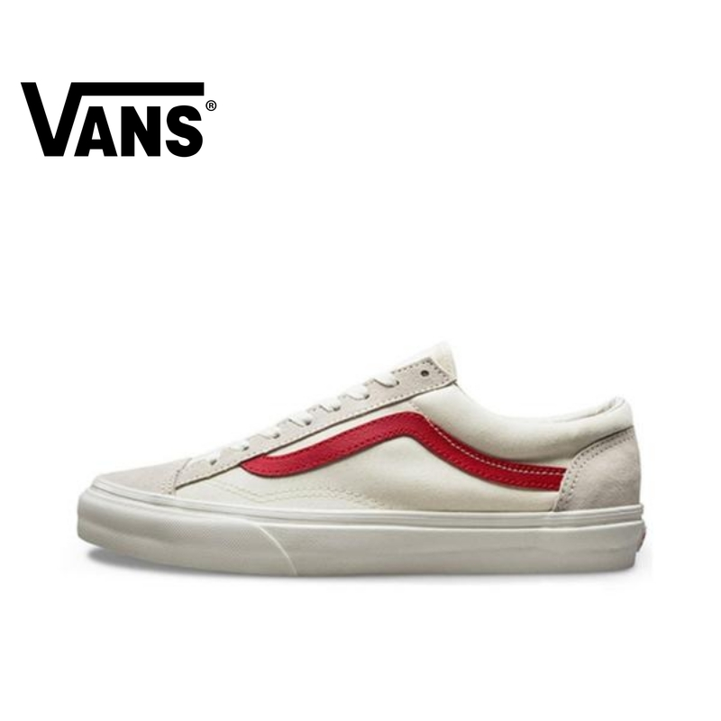 VANS Style 36 Men And Women Shoes Classic Original Authentic Outdoor Street Low Help White Red 2019 New VN0A3DZ3OXS