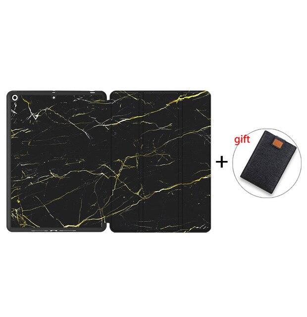 IPTPU14 Brown MTT Soft TPU Back Case For iPad 10 2 inch 7th 8th Gen Marble PU Leather