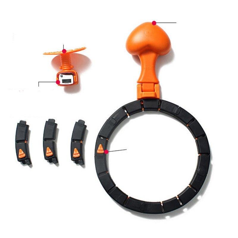 8 seção fitness hoop portátil leve pesado