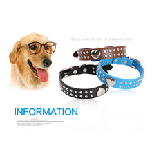 Personalized Heart-shaped diamond Pet Dog Collar Fashion Puppy Cat Necklace Collars Neck Strap PU Leather