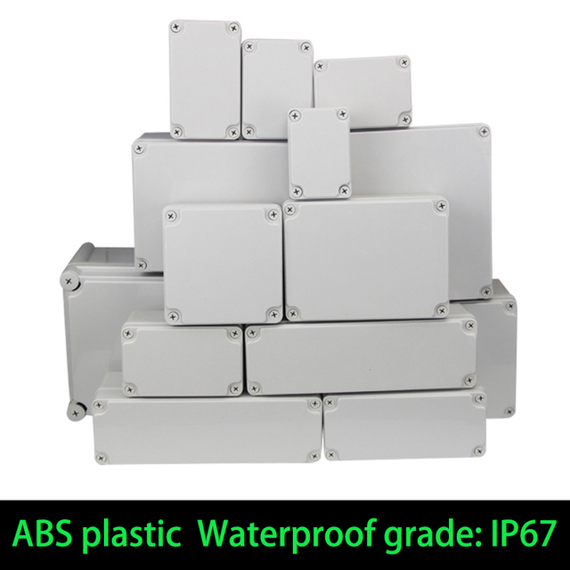Waterproof Plastic Enclosure Box Electronic ip67 Project Instrument Case Electrical Project Box ABS Outdoor Junction Box Housing 1