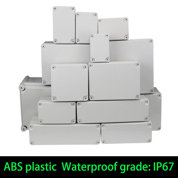 Waterproof Plastic Enclosure Box Electronic ip67 Project Instrument Case Electrical Project Box ABS Outdoor Junction Box Housing outdoor diy monitoring junction box ip67 waterproof dustproof enclosure case wiring electrical project housing terminal