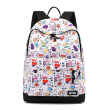 Girls Backpacks Cute Cartoon Pattern Women Bagpack Soft Waterproof Students Comfortable Bags Decompression