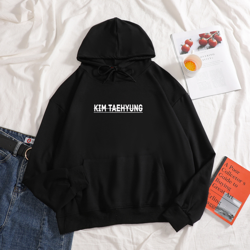 KIM TAEHYUNG Hoodies Graphic Aesthetic Casual High Quality Cotton Top Girl Like Hooded Hoodies Women Autumn Sweatershirt