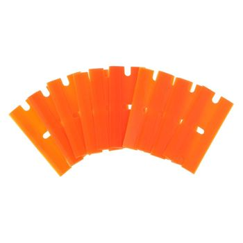 10Pcs/Set Double-Edged Plastic Blades Replacement Scraper Window Car Glass Glue Tape Remover Safety Sticker Decals MAY28 image
