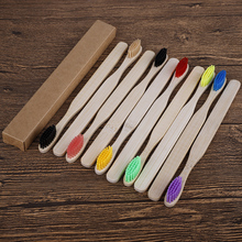 10pcs/set Eco Friendly Bamboo Toothbrush Medium Bristles Biodegradable Oral Care Adults Teeth Cleaning travel Toothbrushes 10pcs soft bristle children bamboo toothbrushes ecofriendly oral care travel toothbrush rainbow color kid's bamboo toothbrushes