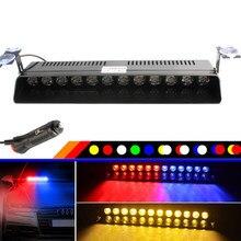 4/12 LED Strobe Flash Warnung Licht Windschutzscheibe Notfall Auto Lichter Blinkt Feuerwehr Nebel Fahrzeug Signal Lampe Rot Gelb DC12V
