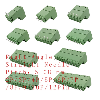 2-12Pin 2EDG5.08 PCB Screw Terminal Block Connector 2EDG 5.08mm Pitch Straight Needle/Right Angle Curved Pin Header Plug Socket - discount item  22% OFF Electrical Equipment & Supplies