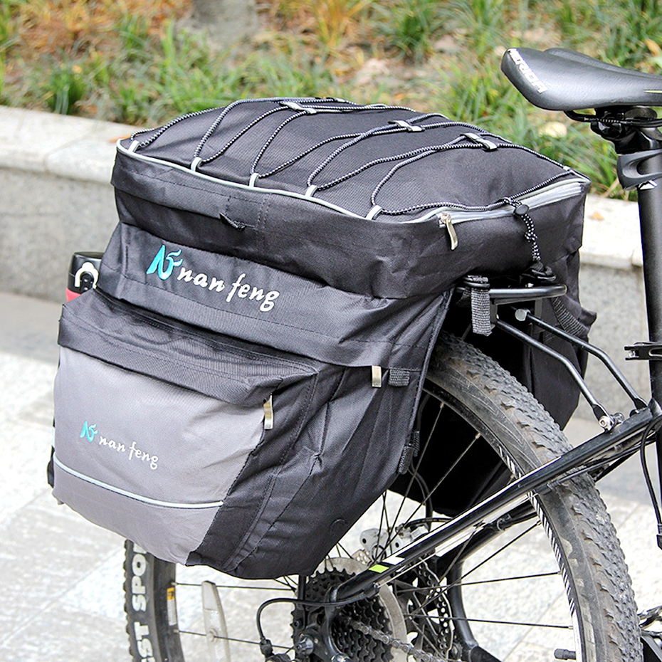 Double Side Pouch Bike Rear Pannier Bag Cycling Bicycle Saddle Bag For Outdoor