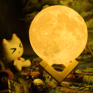 Image 2 - Moon Lamp Moon Light Night Light Light for Kids Gift for Women USB Charging and Touch Control Brightness 3D Printed Lunar Lamp