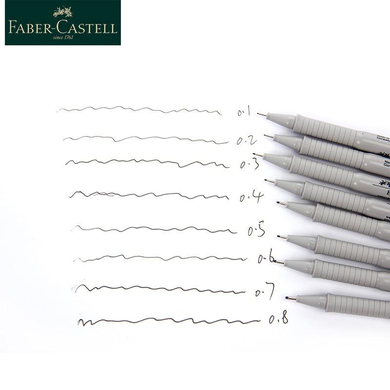 Faber Castell Needle Pen 0..1 0.2 0.3 0.4 0.5 0.6 0.7 0.8 Sketch Painting Waterproof Hook Line Pen Designer Architect Art Office