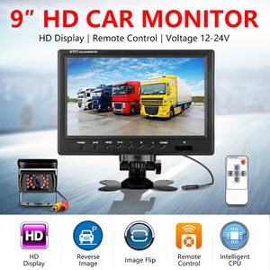 Image 2 - Jansite 9 inch Wired Car monitor TFT Car Rear View Monitor Parking Rearview System for Backup Reverse Camera for Farm Machinery