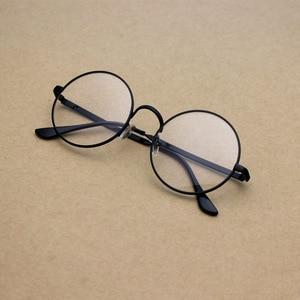 Fashion Round Spectacle Frame Flat Mirror Spectacle Frame Glasses Metal Decorative Glasses Harajuku Round Girls Eye Glasses Hot