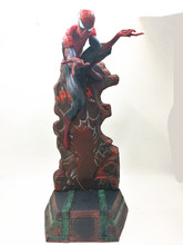 цена на Marvel Crazy Toys Spiderman The Amazing Spider-man PVC Action Figure Collectible Model Toy 2 Styles 18 42.5cm
