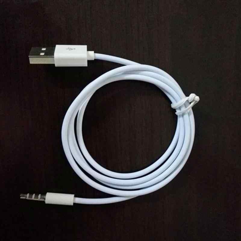 Tomada de áudio aux de 3.5mm para usb 2.0 adaptador de cabo de carga macho cabo aux 1m