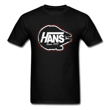 Star Wars Tees Men T-Shirt Hans Since 1977 Short Sleeve Summ