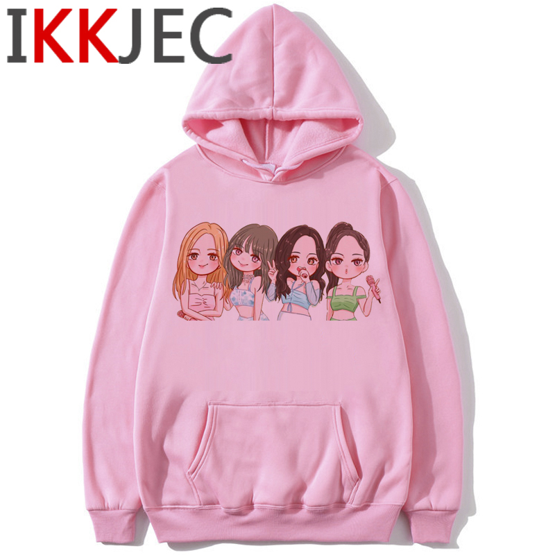 Blackpink In Your Area Harajuku Hoodies Women Ullzang Kill This Love Album K-pop Sweatshirt Jisoo Jennie Lisa Rose Hoody Female 8