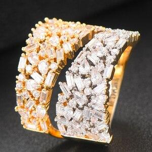 Image 3 - GODKI anneaux de déclaration en gras pour femmes, bijoux de luxe, bijoux pour fêtes de fiançailles de haute qualité, avec pierres en zircone, collection 2020