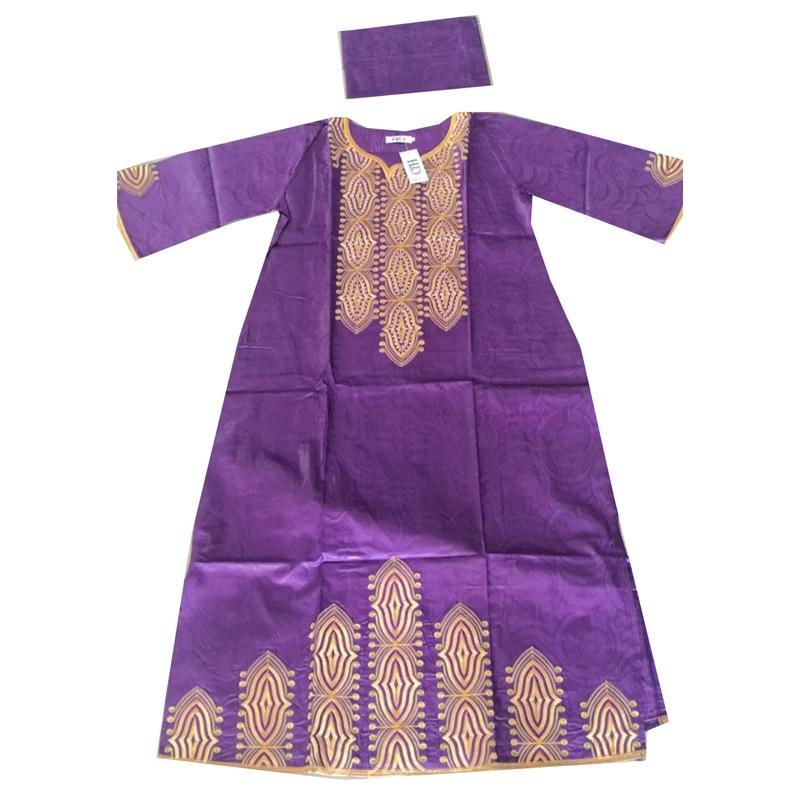 Image 5 - MD 2019 nouvelles robes pour les femmes robe longue africaine bazin dashiki vêtements robe de soirée de mariage tenue de grande taille traditionnelleVêtements style africain   -
